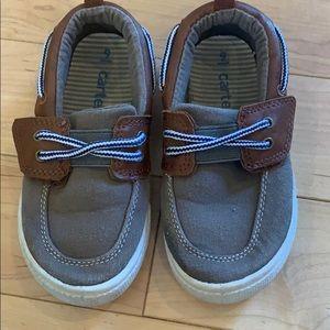 EUC boys brown boat shoes dress shoes, size 9